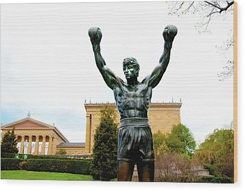 Rocky I Wood Print by Greg Fortier