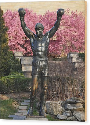 Rocky In Spring Wood Print by Bill Cannon