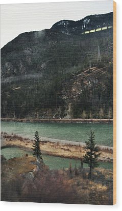 Rocky Mountain Foothills Montana Wood Print by Kyle Hanson
