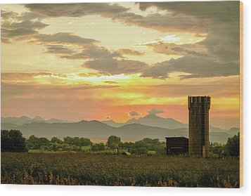Wood Print featuring the photograph Rocky Mountain Front Range Country Landscape by James BO Insogna