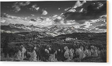 Wood Print featuring the photograph Rocky Mountain Panorama by Andrew Soundarajan