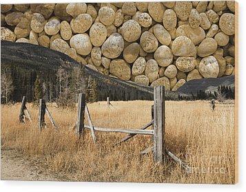 Rocky Mountain Sky Wood Print by John Stephens