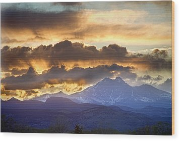 Rocky Mountain Springtime Sunset 3 Wood Print by James BO  Insogna