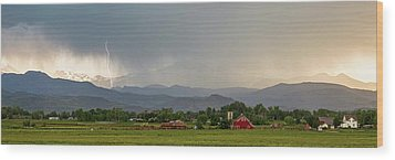 Wood Print featuring the photograph Rocky Mountain Storming Panorama by James BO Insogna