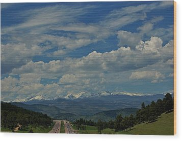 Colorado Rocky Mountain High Wood Print