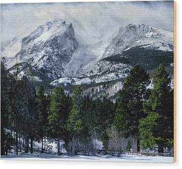 Rocky Mountain Winter Wood Print