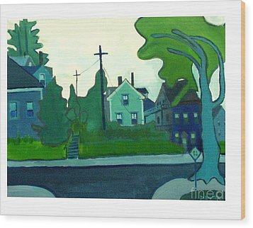 Rocky Neck Art Colony East Gloucester Ma Wood Print by Debra Bretton Robinson