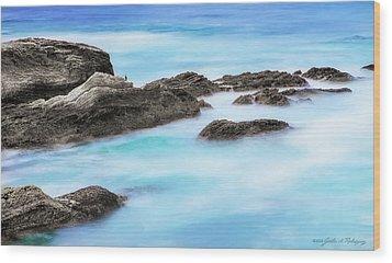 Rocky Ocean Wood Print by John A Rodriguez