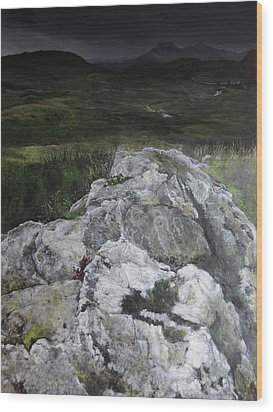 Rocky Outcrop Wood Print by Harry Robertson