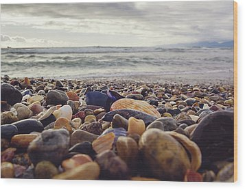 Wood Print featuring the photograph Rocky Shore by April Reppucci