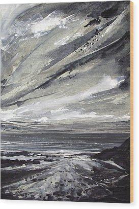 Rocky Shore Wood Print by Keran Sunaski Gilmore