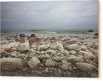 Wood Print featuring the photograph Rocky Shore by Stefan Nielsen