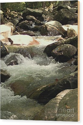 Wood Print featuring the mixed media Rocky Stream 4 by Desiree Paquette