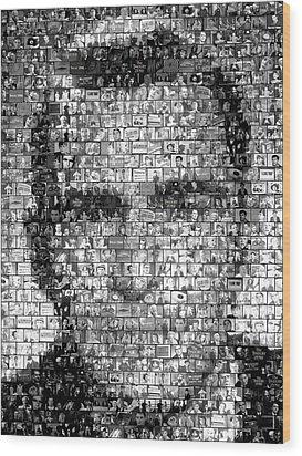 Rod Serling Twilight Zone Mosaic Wood Print by Paul Van Scott