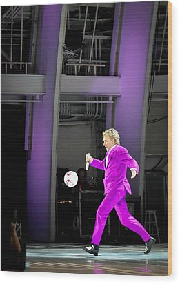 Rod Stewart Soccer Ball Wood Print