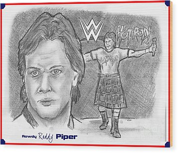 Roddy Piper Wood Print by Chris  DelVecchio