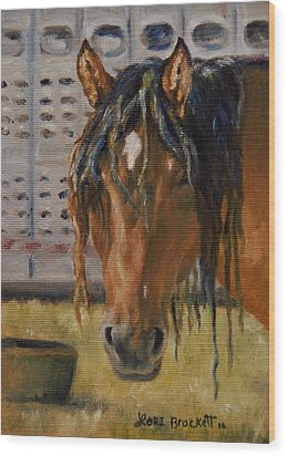 Rodeo Horse Wood Print