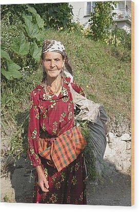 Rodopean Women-2 Wood Print by Antoaneta Melnikova- Hillman