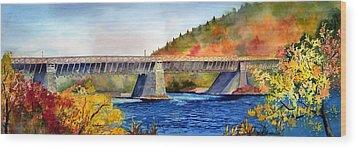 Roebling Aqueduct Bridge Wood Print by Paul Temple