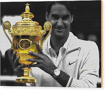 Roger Federer 2a Wood Print