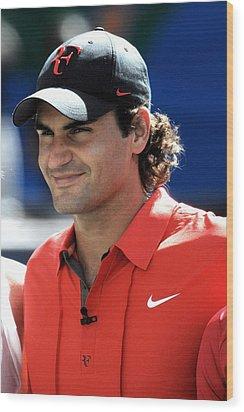 Roger Federer In Attendance For Arthur Wood Print by Everett