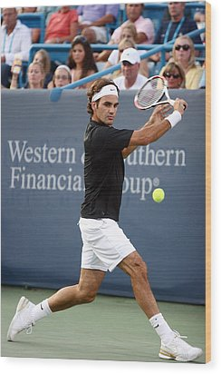 Roger Federer Wood Print by Keith Allen