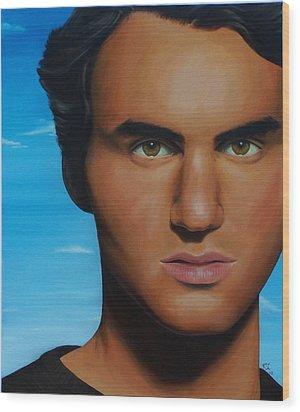 Roger Federer Wood Print by Kim Nelson