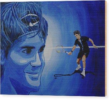 Roger Federer Wood Print by Quwatha Valentine