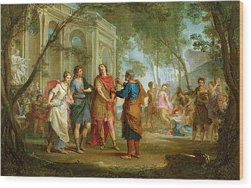 Roland Learns Of The Love Of Angelica And Medoro  Wood Print by Louis Galloche
