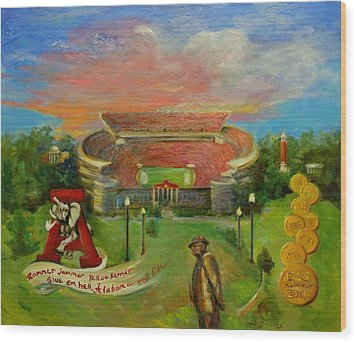 Roll Tide Wood Print by Ann Bailey