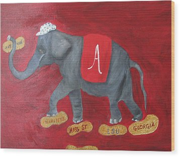Roll Tide Wood Print by Brenda Luczynski