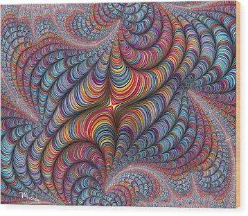 Rolled Blanket Bingo Wood Print