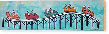 Roller Fun Wood Print by Patricia Arroyo