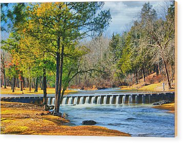 Wood Print featuring the photograph Rolling Down The River by Rick Friedle