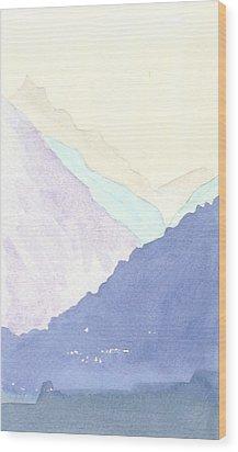 Rolling Hills Wood Print by Jim Green