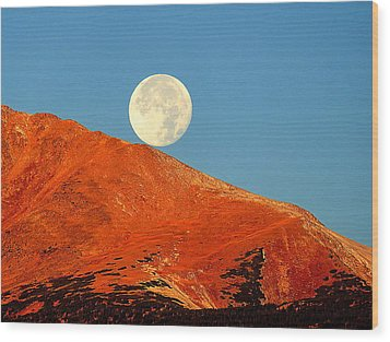 Rolling Moon Wood Print by Karen Shackles