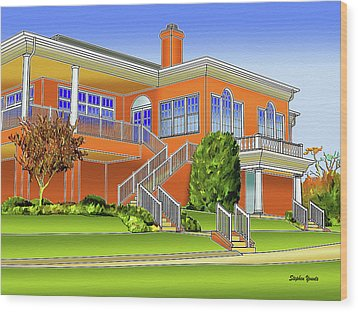 Rolling Road Golf Club Wood Print by Stephen Younts