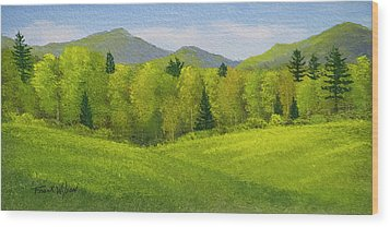 Wood Print featuring the painting Rolling Spring Pastures  by Frank Wilson