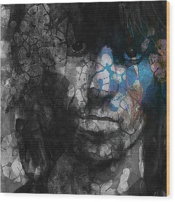 Rolling Stoned Wood Print by Paul Lovering