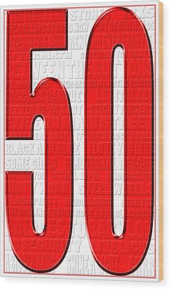 Rolling Stones 1 Wood Print by Andrew Fare