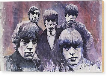 Rolling Stones  Wood Print by Yuriy  Shevchuk