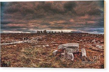 Rolling Thunder Wood Print by Kim Shatwell-Irishphotographer