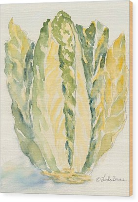 Romaine Wood Print by Linda Bourie