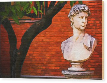 Roman Bust, Loyola University Chicago Wood Print by Vincent Monozlay