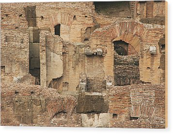 Wood Print featuring the photograph Roman Colosseum by Silvia Bruno