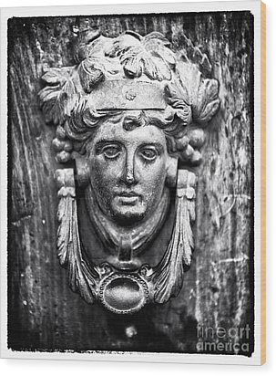 Roman Door Knocker Wood Print by John Rizzuto