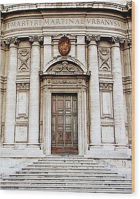 Roman Doors - Door Photography - Rome, Italy Wood Print by Melanie Alexandra Price