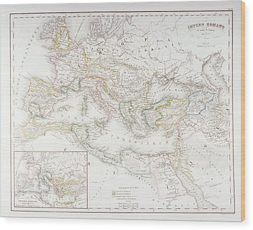Roman Empire At The Time Of Augustus Wood Print by Fototeca Storica Nazionale