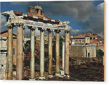 Roman Forum Wood Print by Harry Spitz