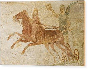 Roman Fresco, Ostia Antica Wood Print by Sheila Terry